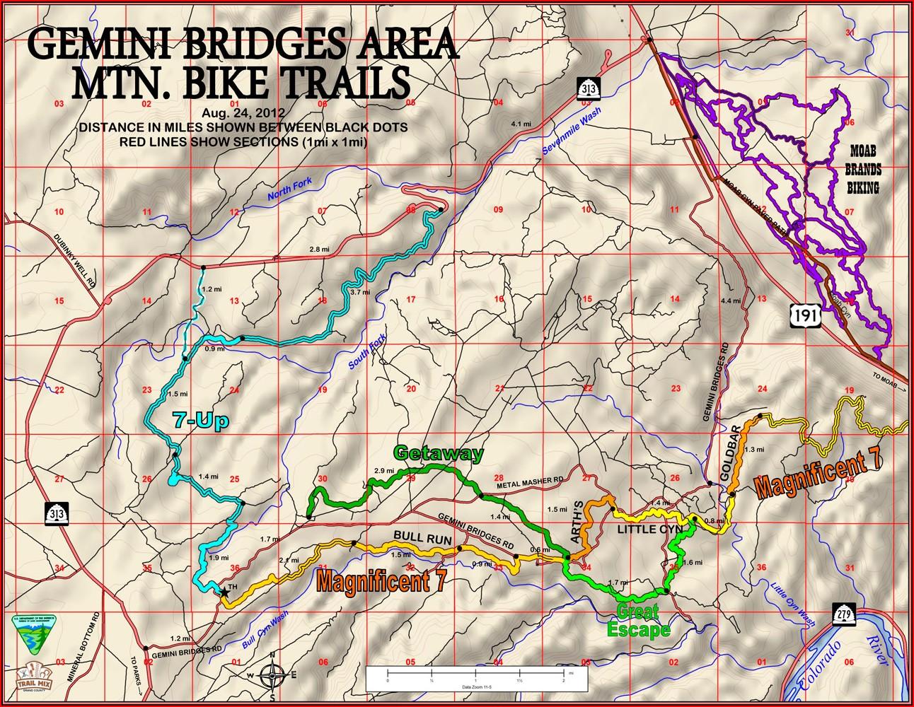 Moab Utah Off Road Trail Maps