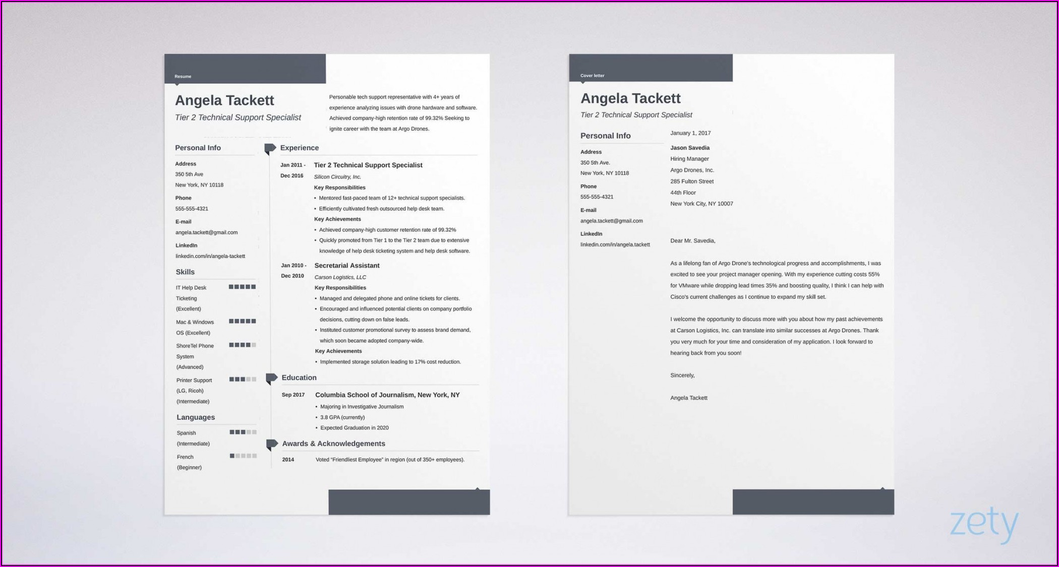 Modern Cvresume Template Free Download