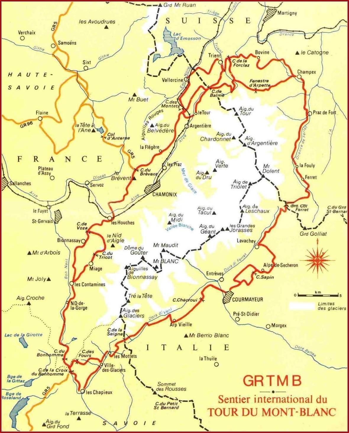 Mont Blanc Trail Map Canada
