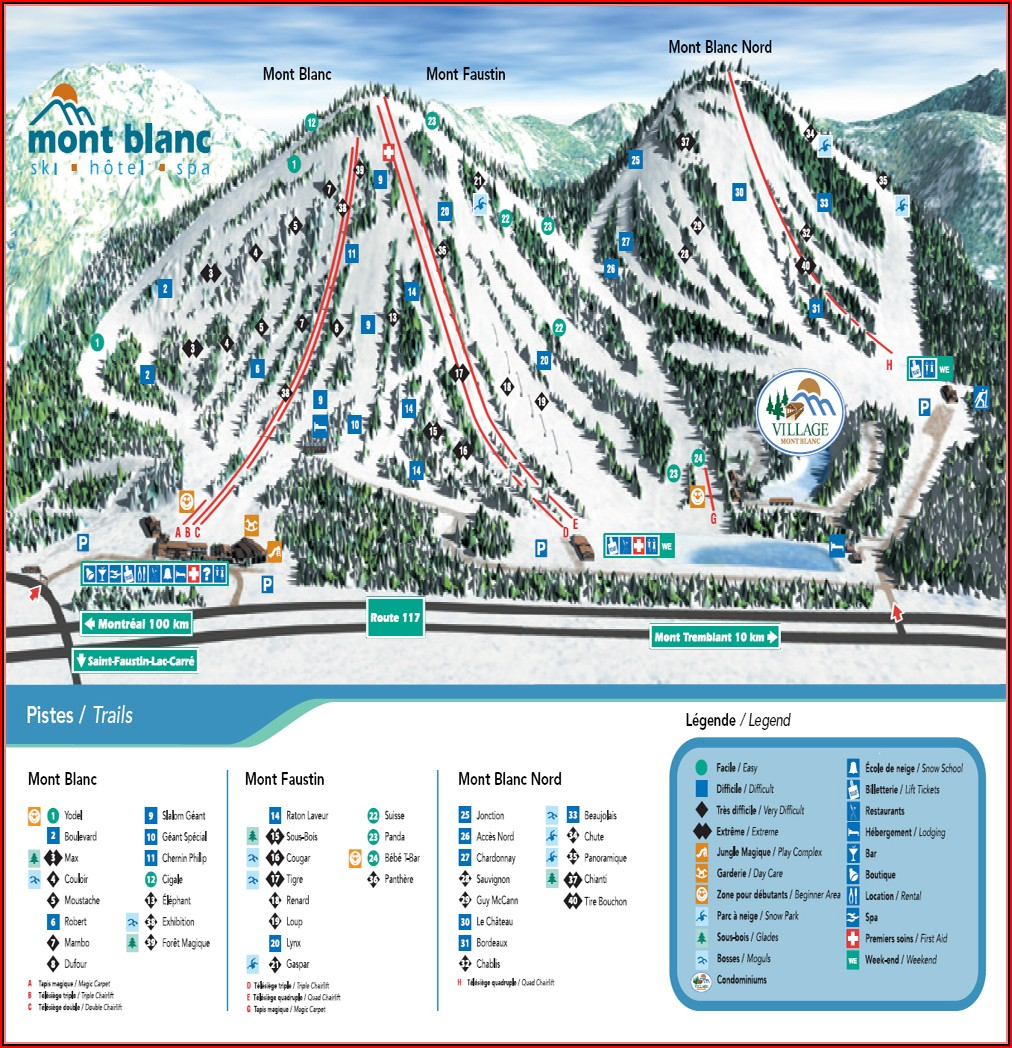 Mont Blanc Trail Map