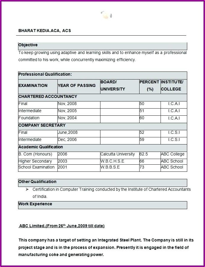 Ms Office Resume Templates Free Download