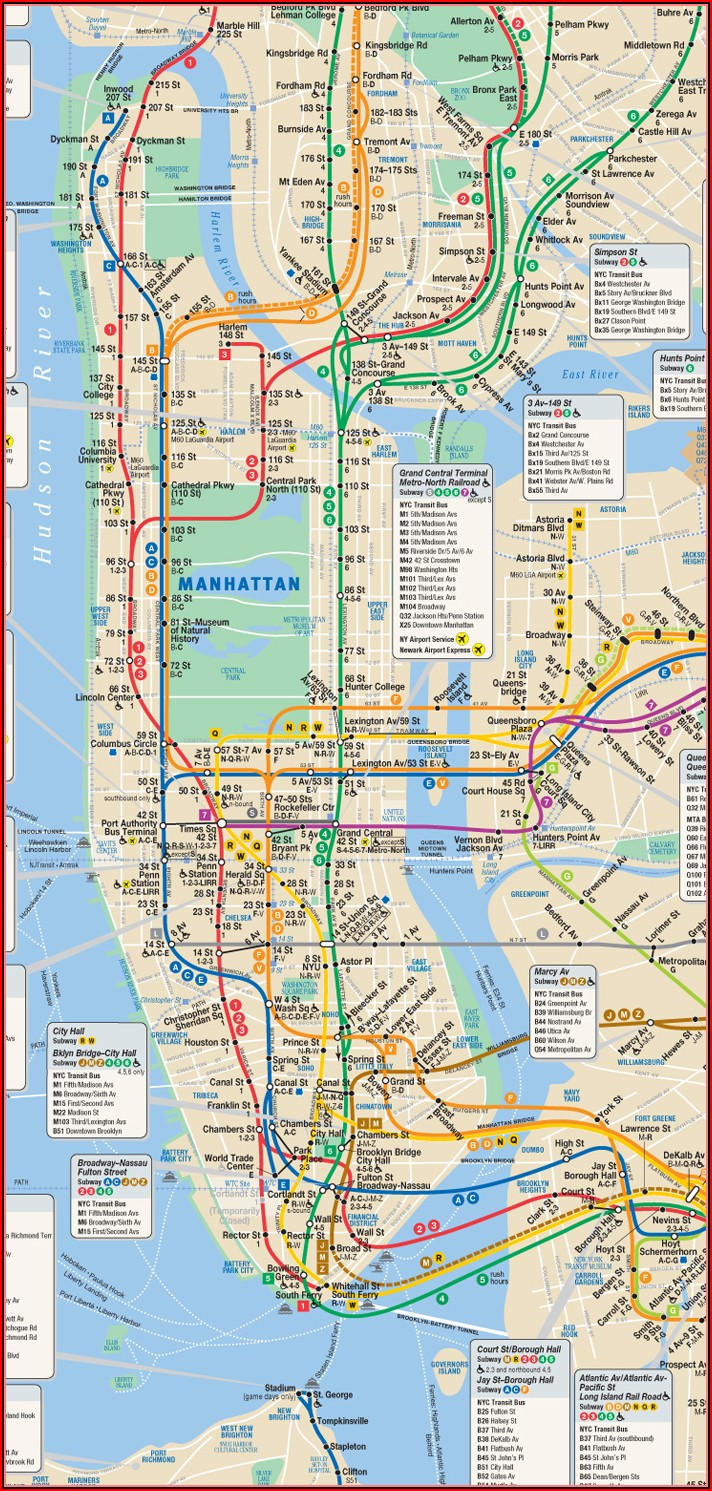 Mta Subway Map New York Pdf