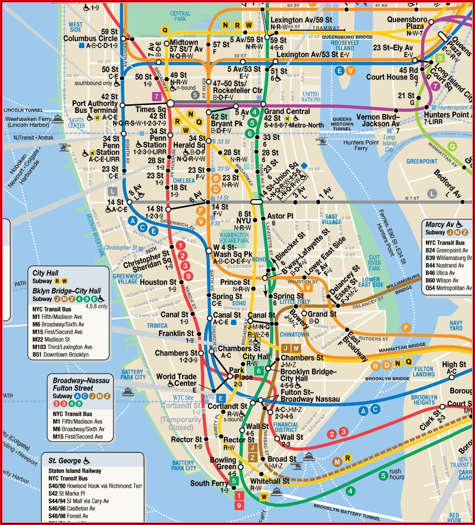 Mta Subway Map New York
