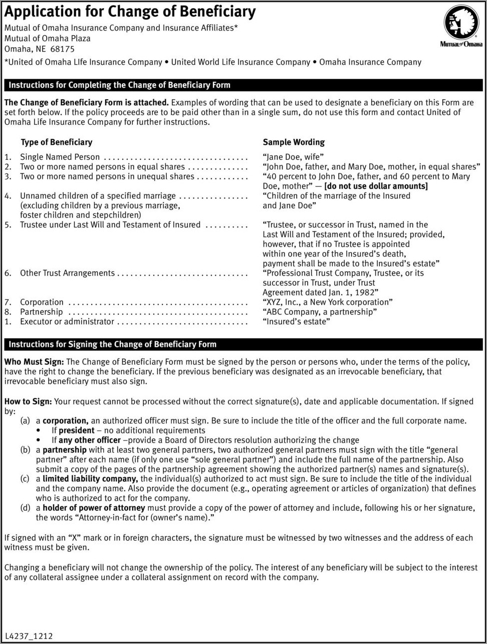 Mutual Of Omaha Life Insurance Loan Form