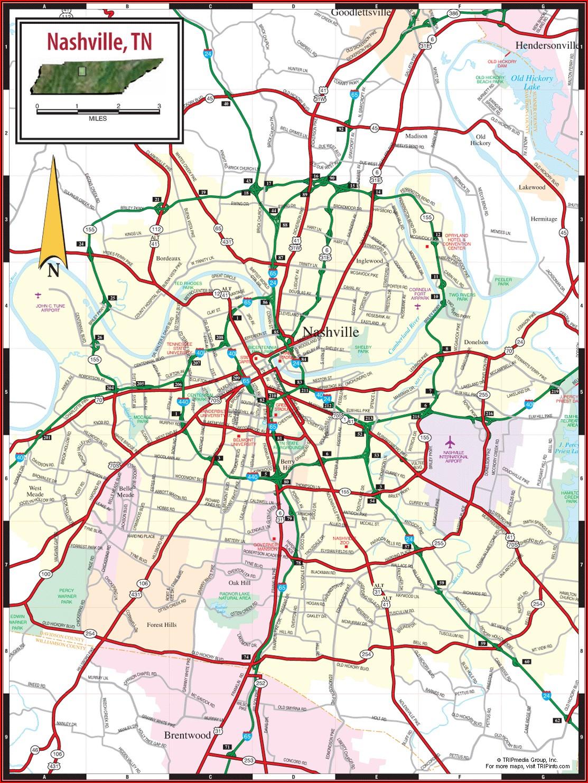 Nashville Lodging Map