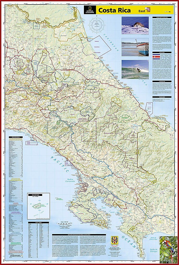 National Geographic Adventure Map Costa Rica