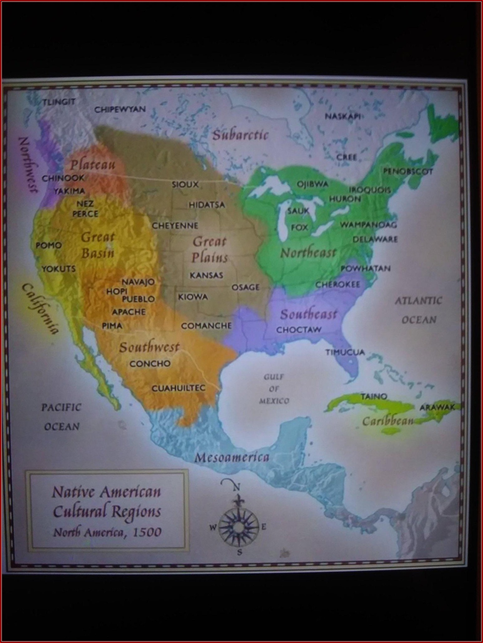 Native American Tribe Map Of North America