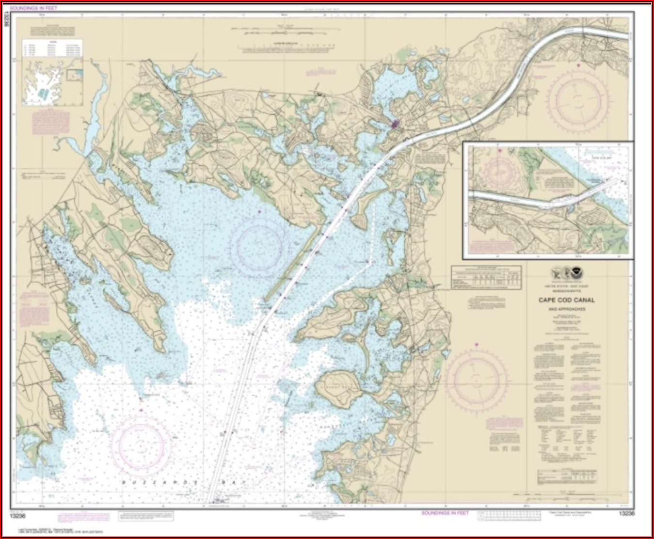 Nautical Chart Cape Cod Canal