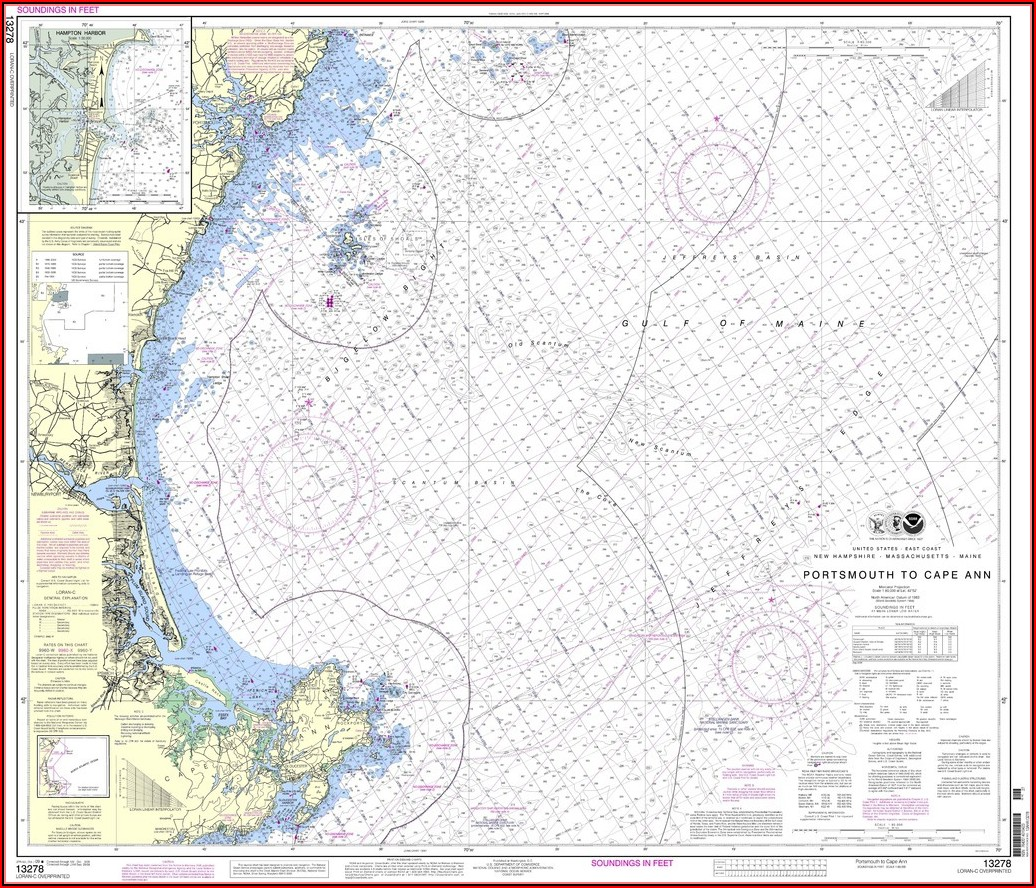 Nautical Map Of Cape Ann