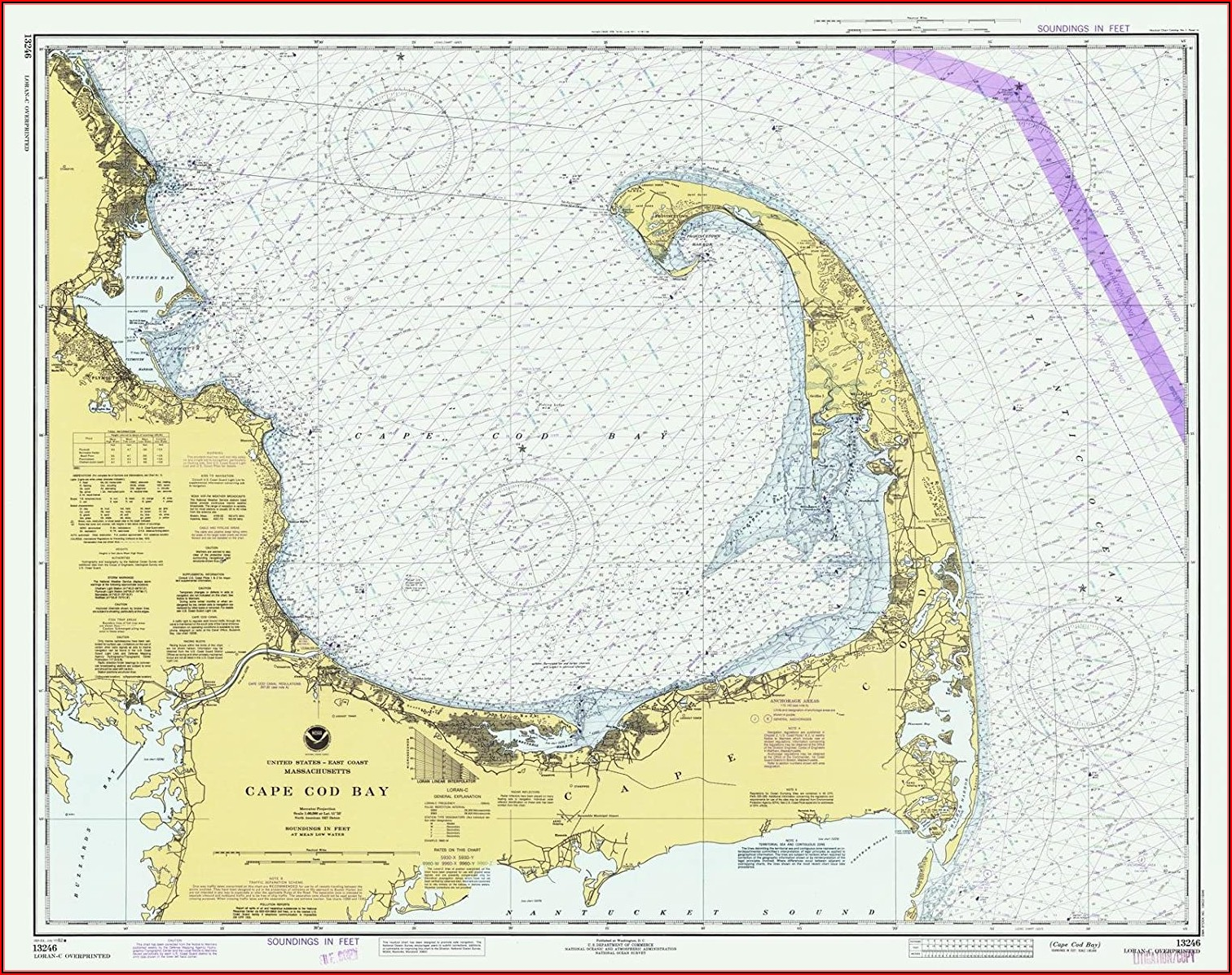 Nautical Map Of Cape Cod And Islands