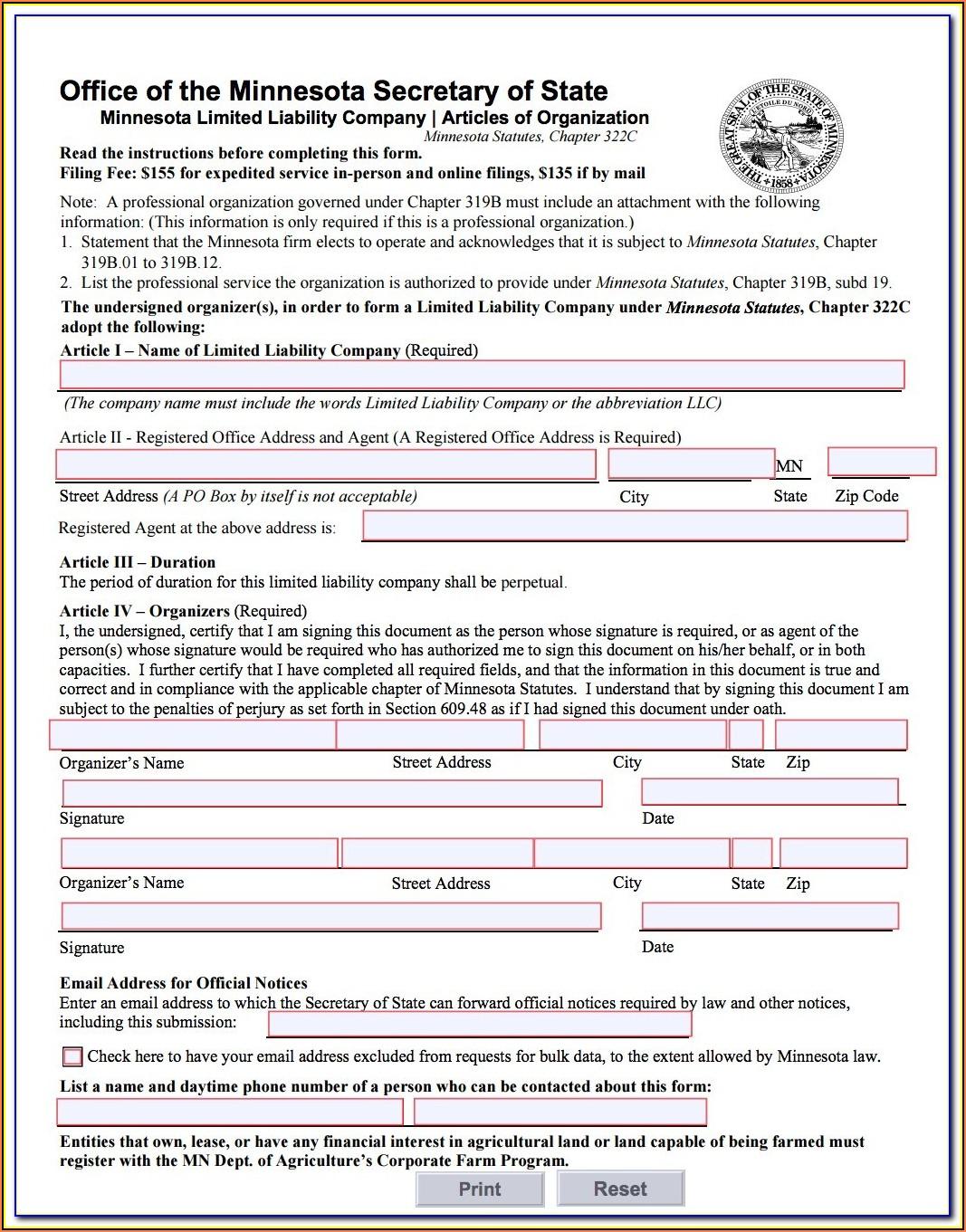 Nebraska Secretary Of State Llc Forms