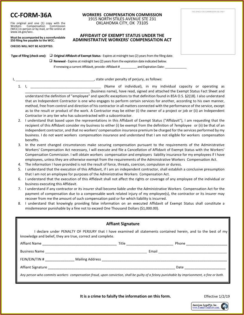 Nevada Workers Compensation Waiver Form