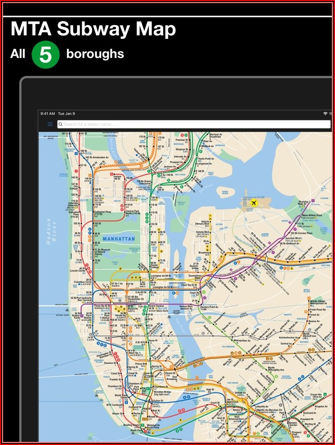New York Subway Mta Map And Route Planner Free