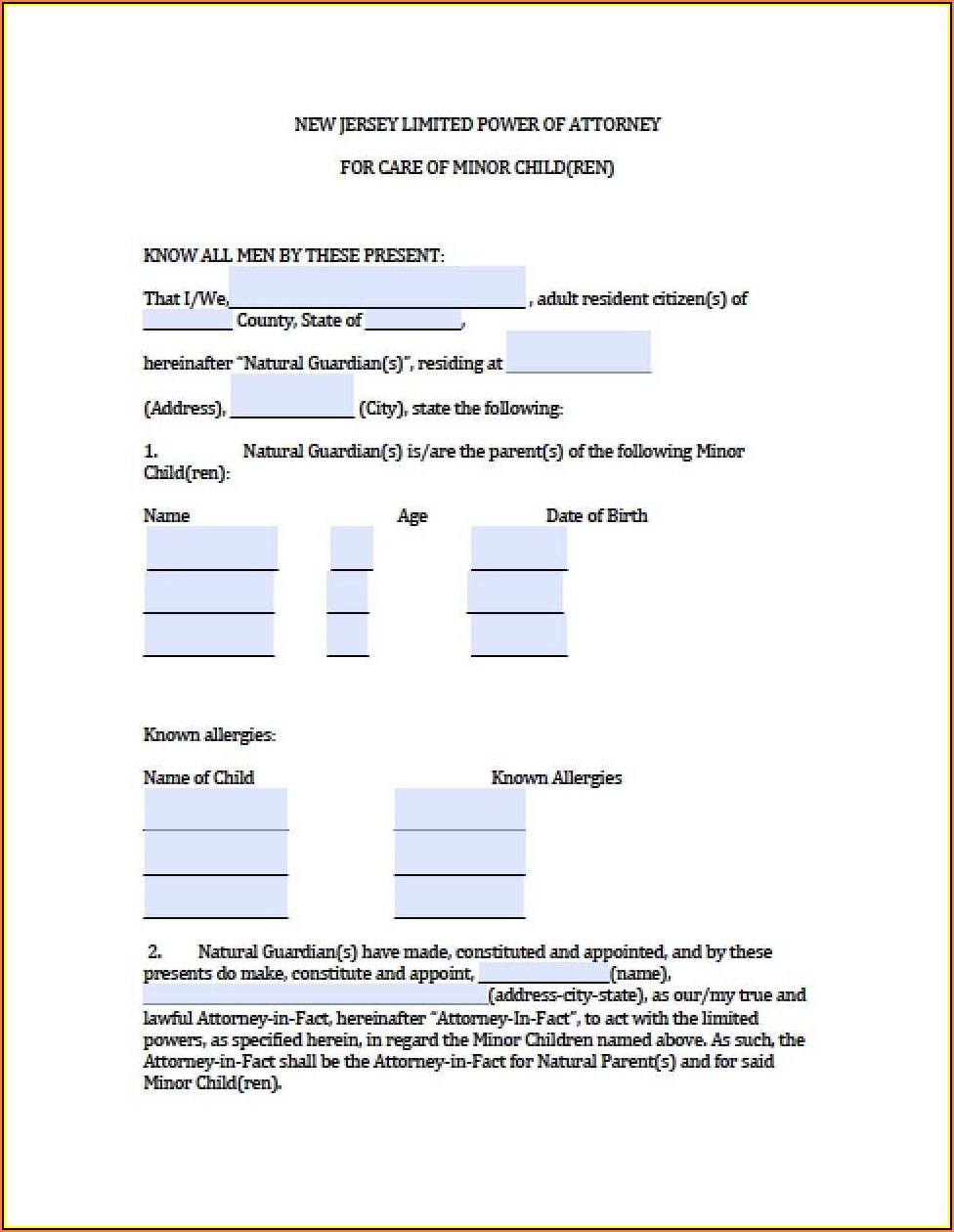 Nj Guardianship Forms 2017