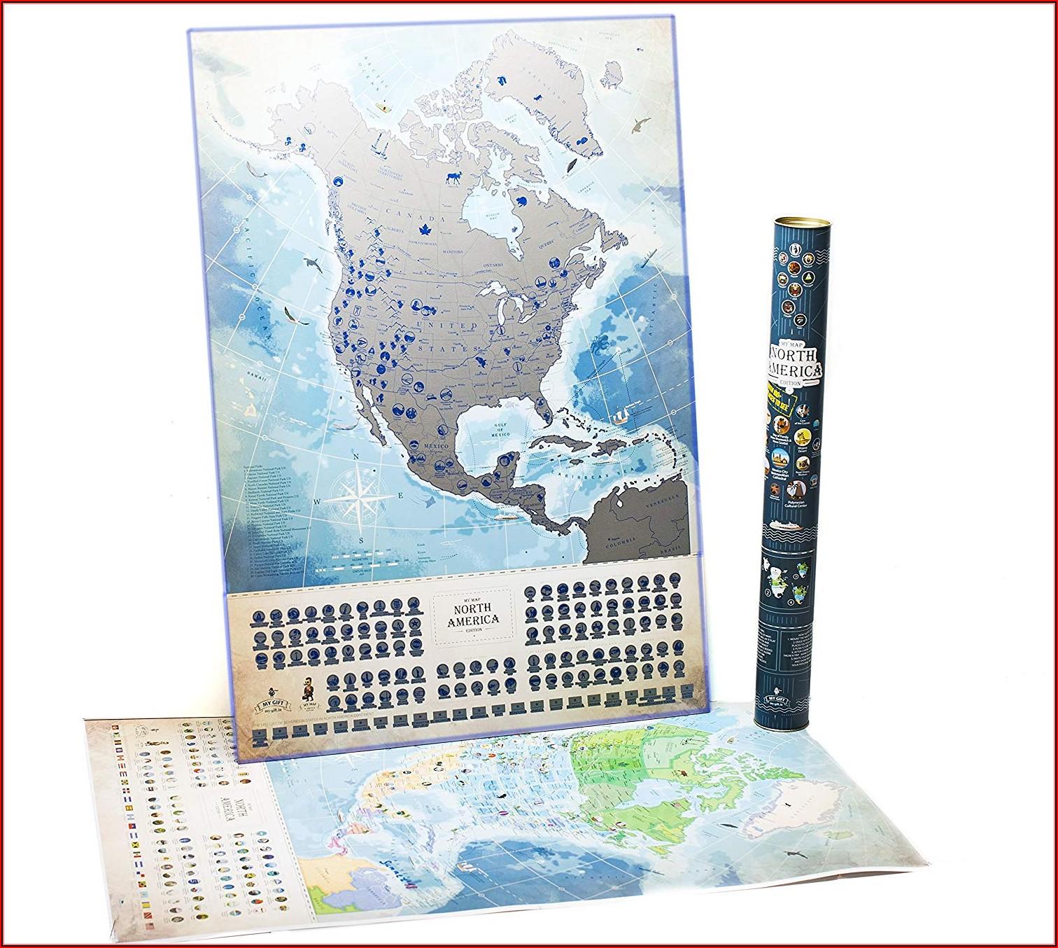 North America Scratch Map
