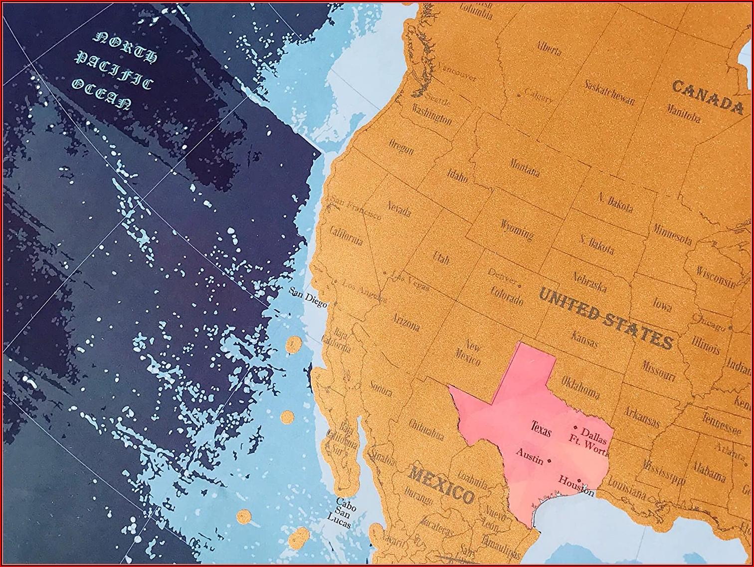 North America Scratch Off Map