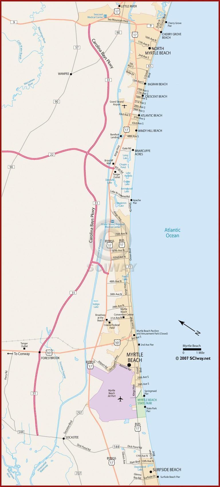 North Myrtle Beach Hotel Map