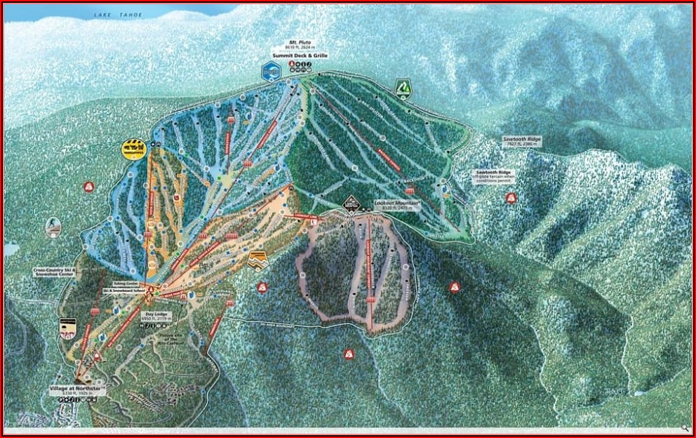 Northstar At Tahoe Lodging Map