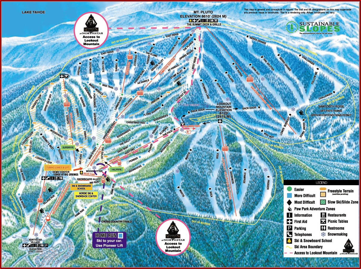 Northstar Lodging Map