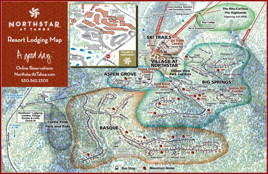 Northstar Resort Lodging Map