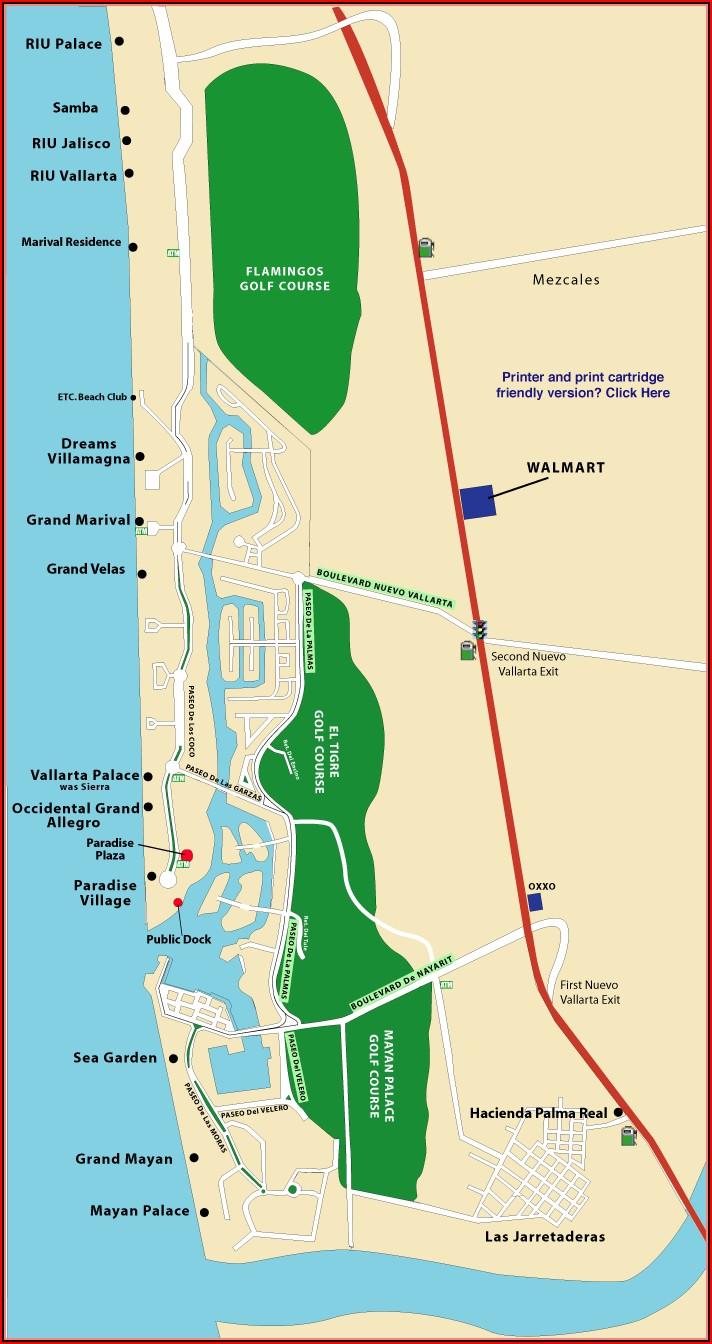 Nuevo Vallarta Hotel Zone Map