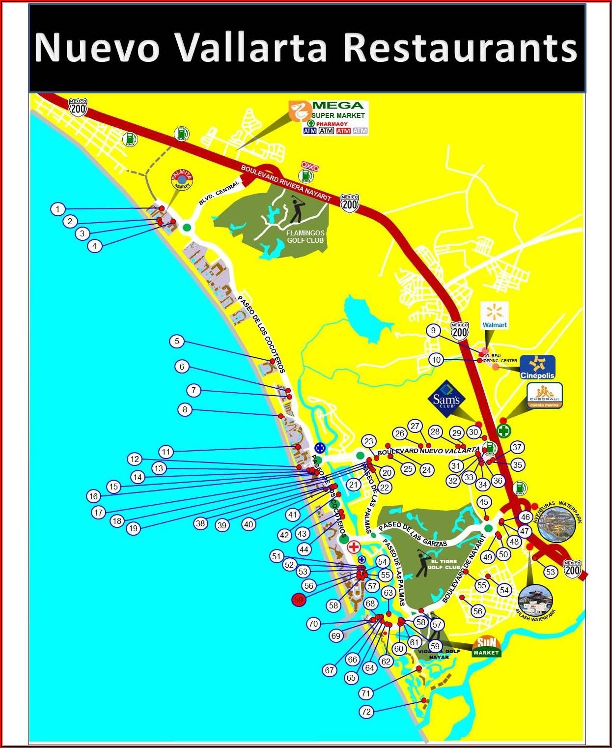 Nuevo Vallarta Mexico Hotel Map