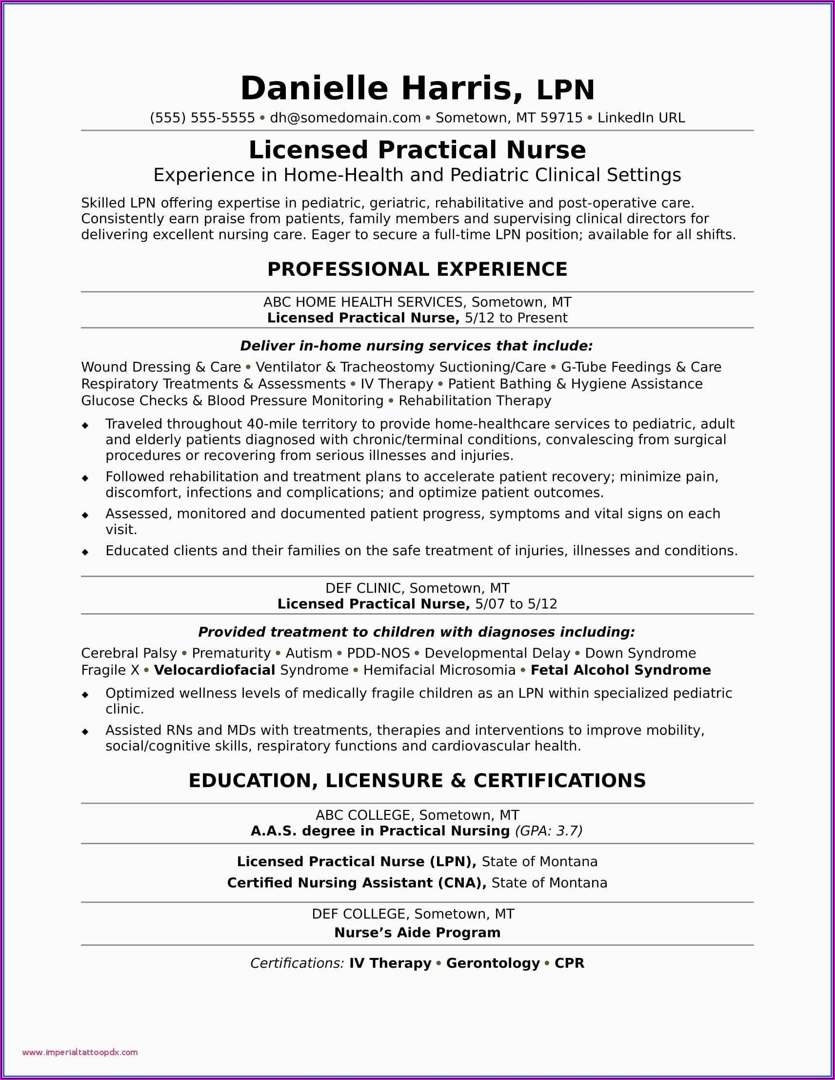 Nursing Assistant Customer Service Resume