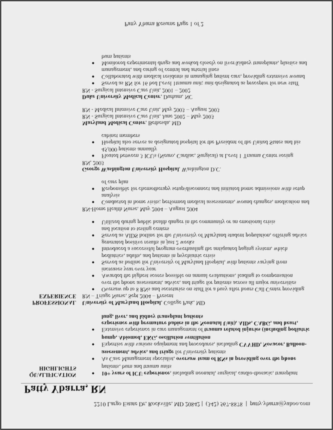 Nursing Resume Templates 2019