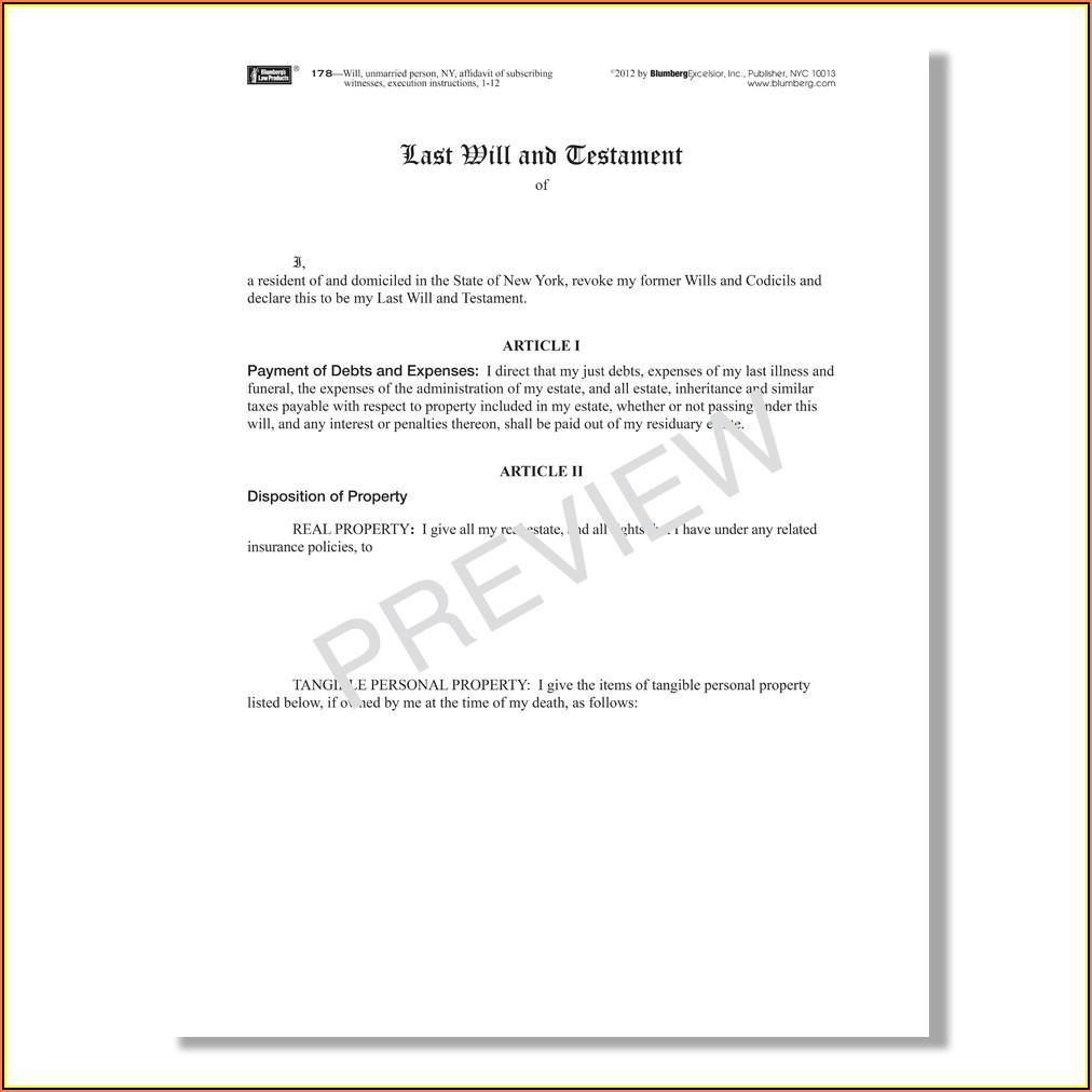 Ny Affidavit Format