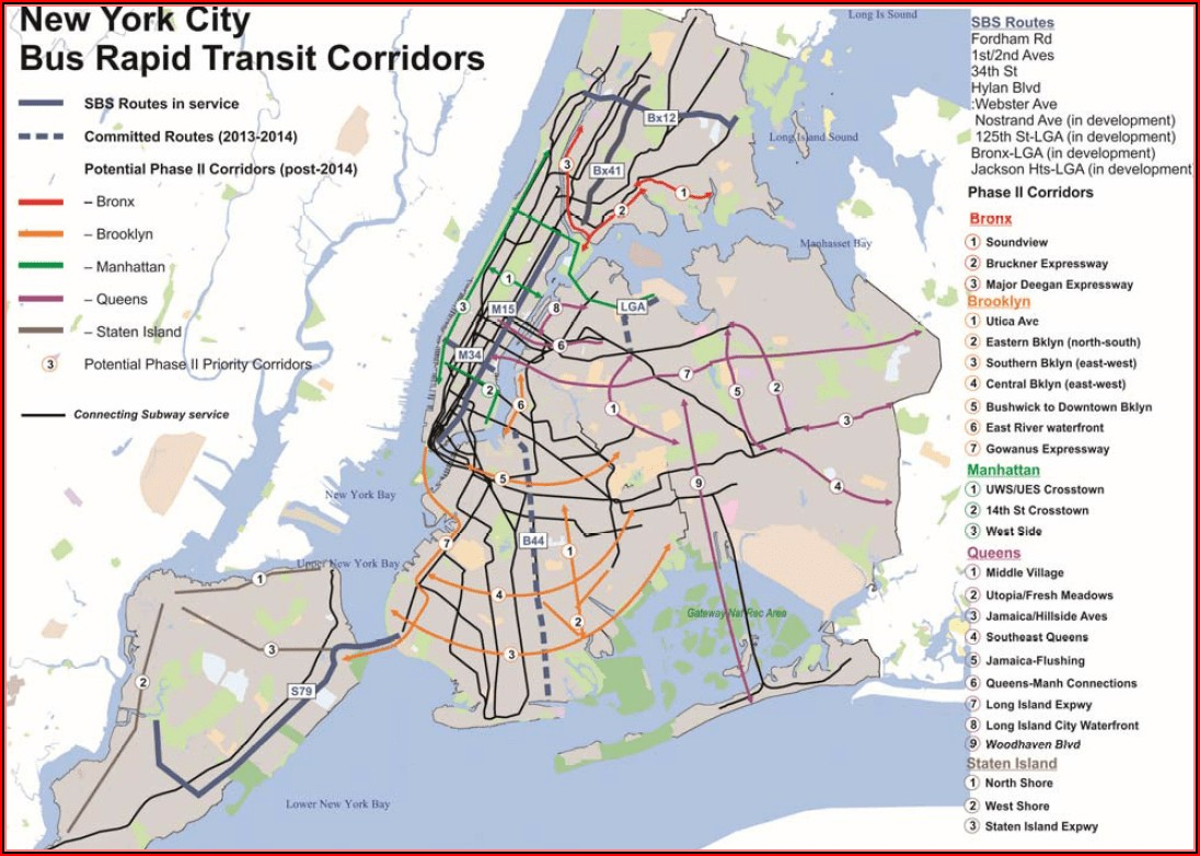 Nyc Bus Map Manhattan Bronx