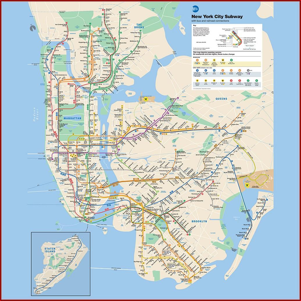 Nyc Subway Map Manhattan To Brooklyn