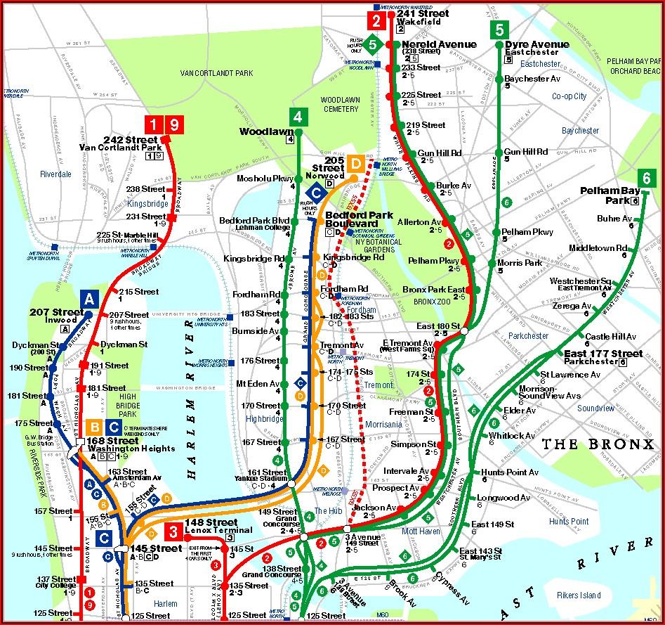 Nyc Transit Bus Map Bronx