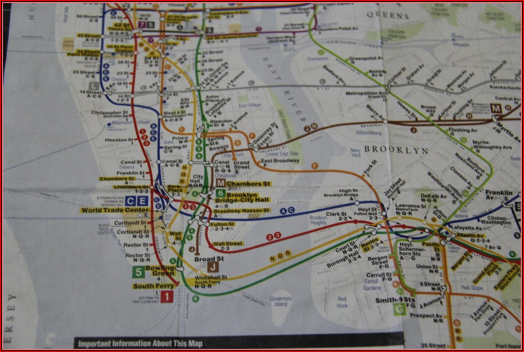 Nyc Transit Subway Map Manhattan