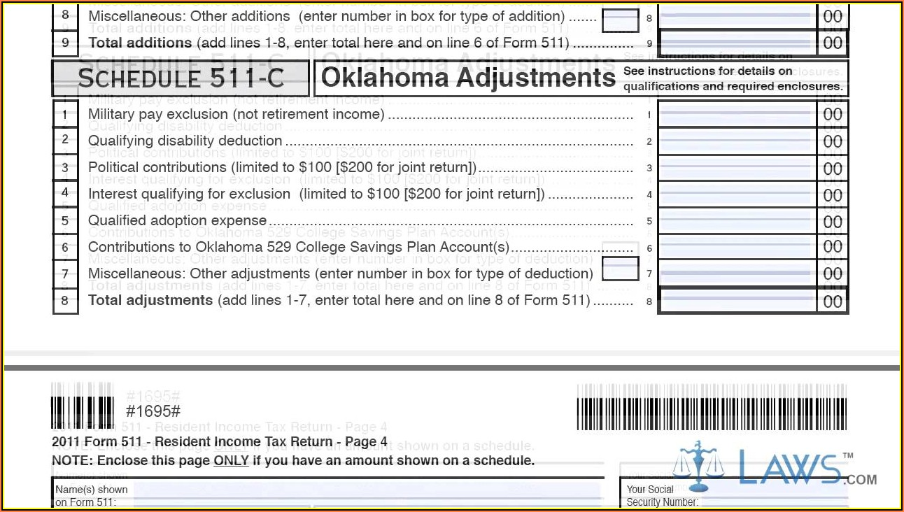 Oklahoma Sales Tax Return Form