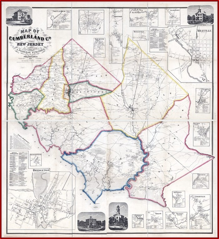 Old Maps Of Cumberland County Nj