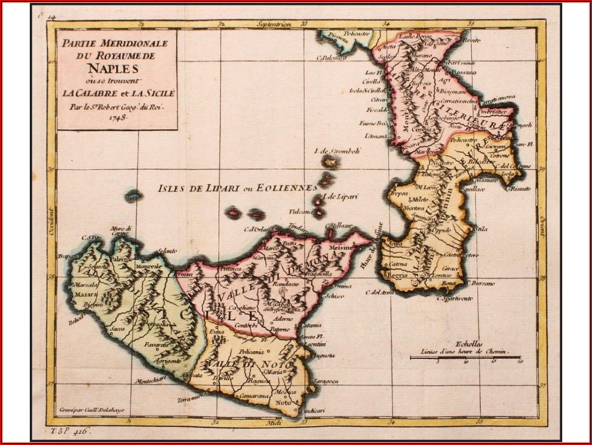 Old Maps Of Sicily