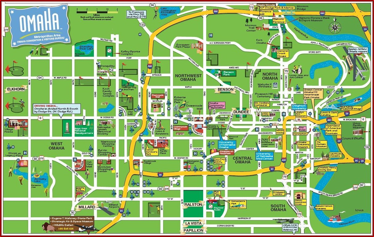 Omaha Hotels Map