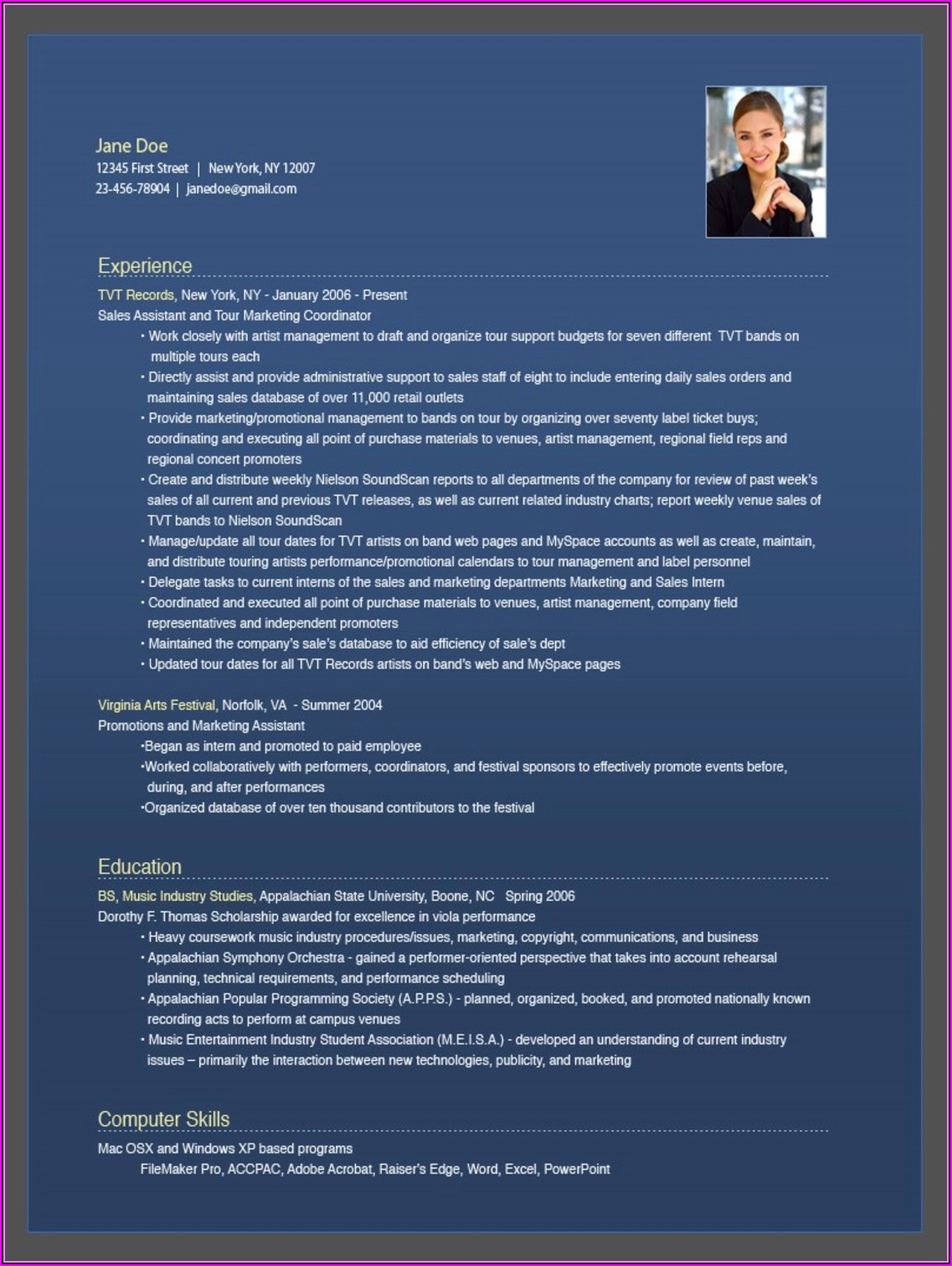 Online Resume Maker With Photo Free Download