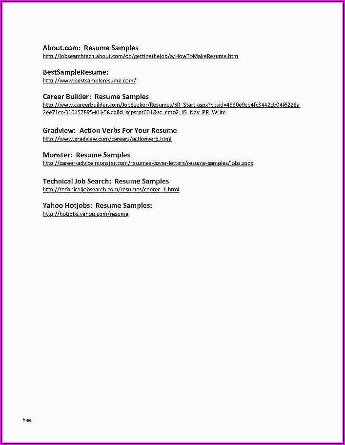 Online Resume Making For Freshers Free