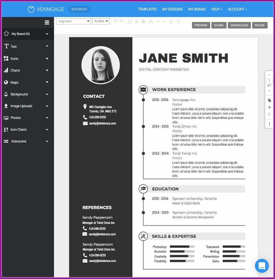 Online Resume Preparation Tool