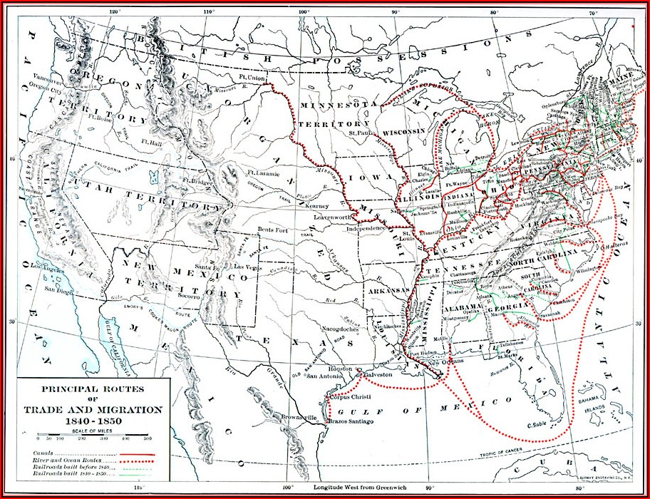 Oregon Trail Maps In 1850s