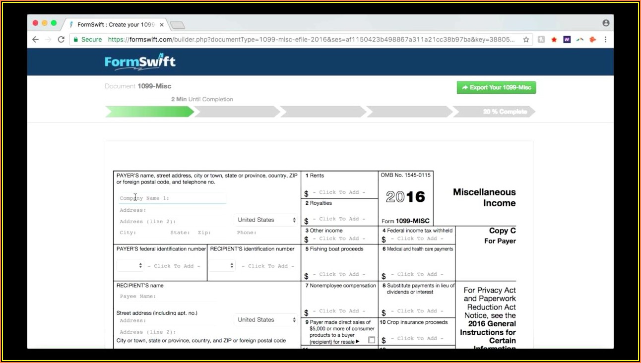 Pa 1099 Misc Form Download