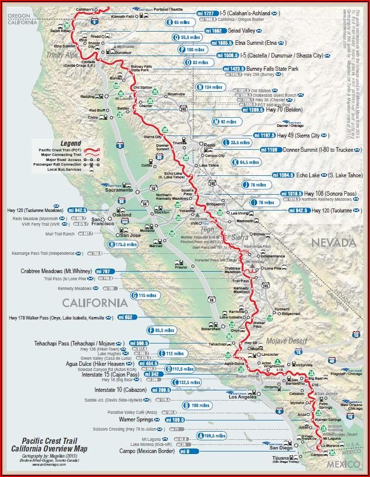 Pacific Crest Trail Maps Google