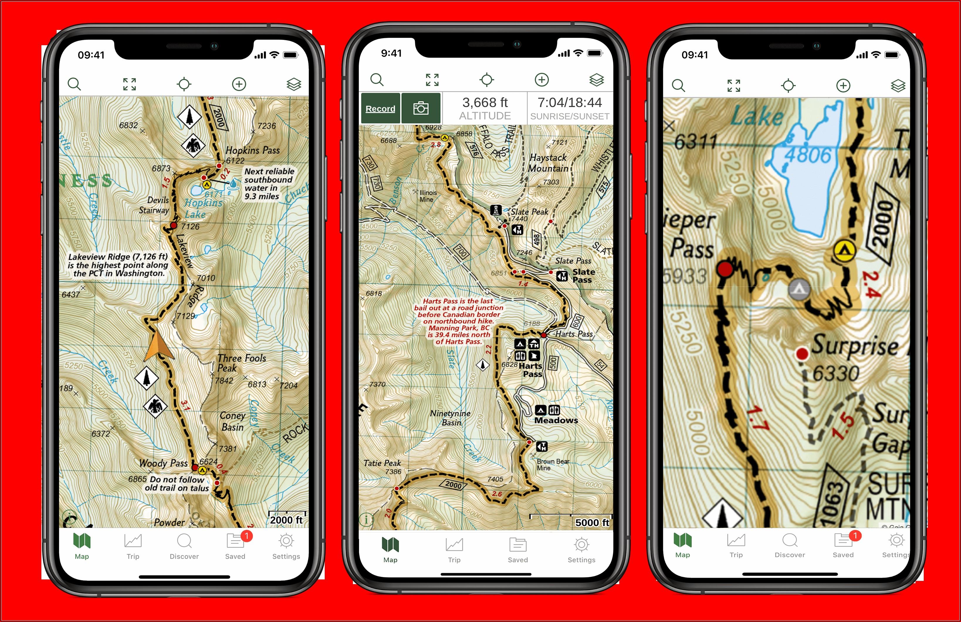 Pacific Crest Trail Maps Washington