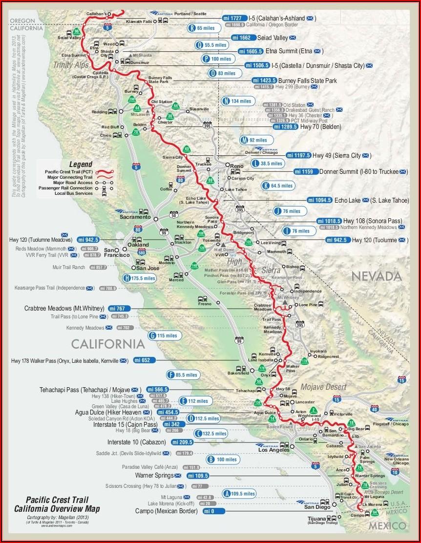 Pacific Crest Trail Maps