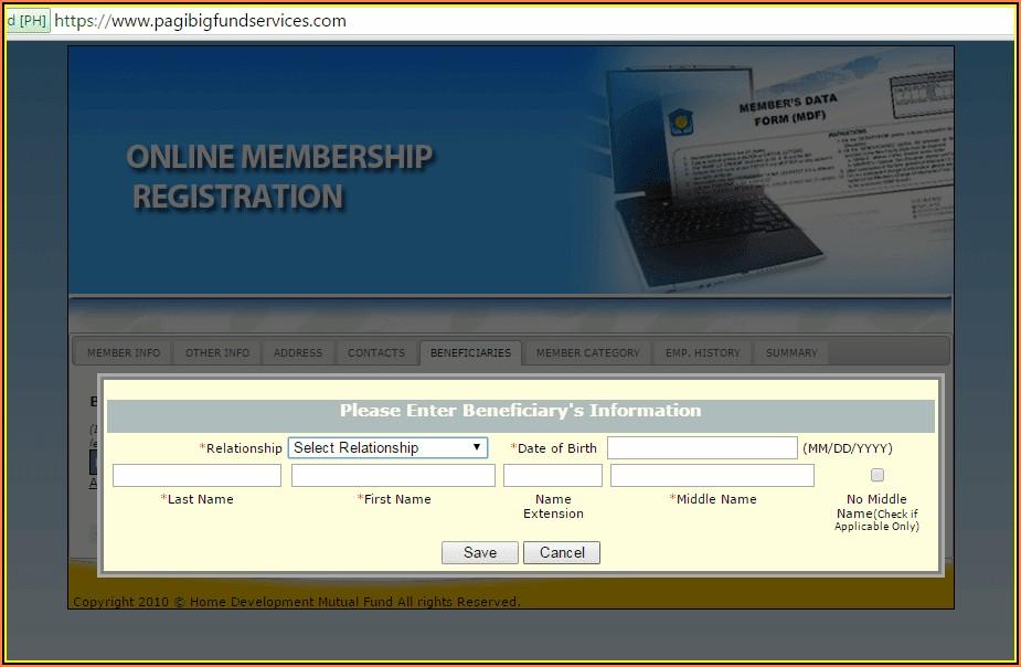 Pag Ibig Form Online Registration
