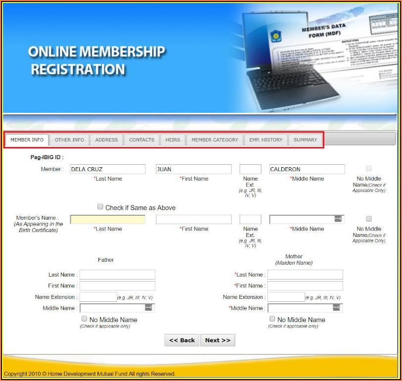 Pag Ibig Mdf Form Online Registration