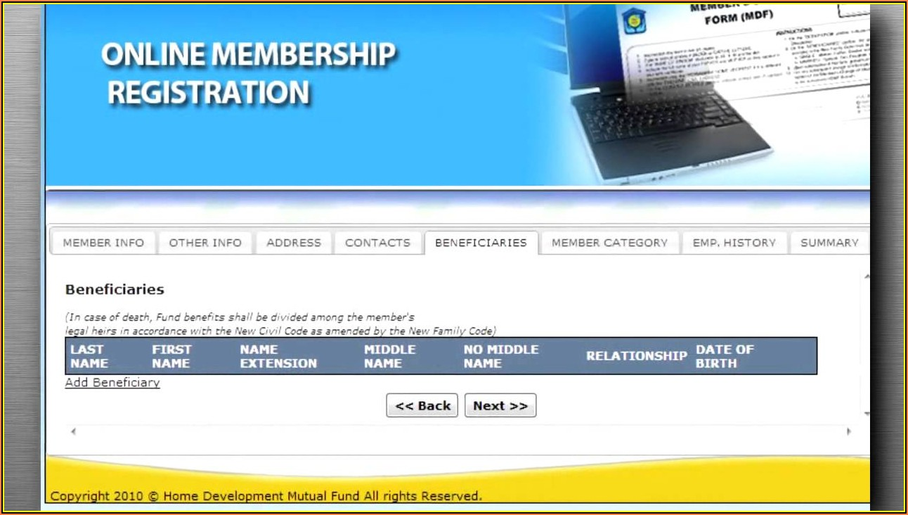 Pag Ibig Membership Data Form Online Registration
