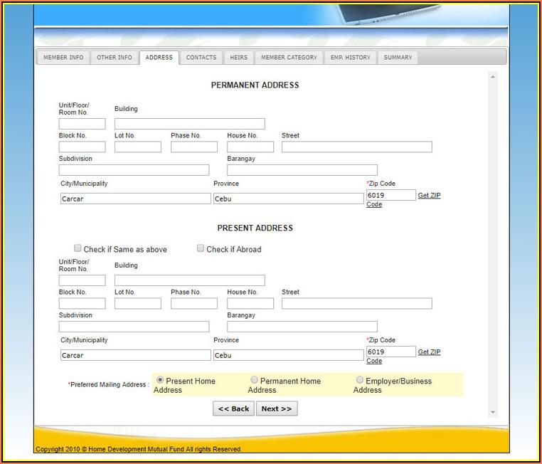 Pag Ibig Online Registration Form Download
