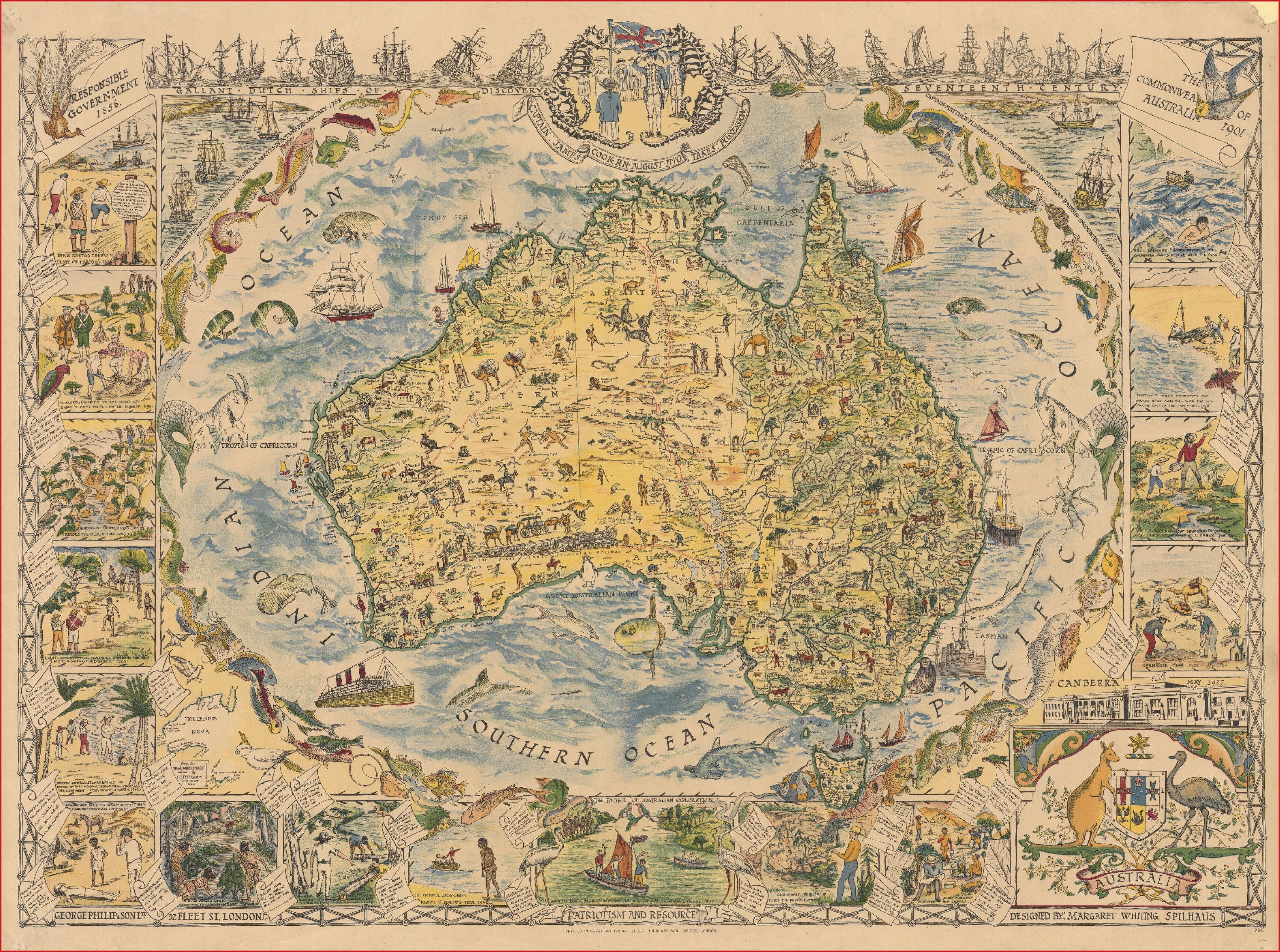 Paper Topo Maps Australia